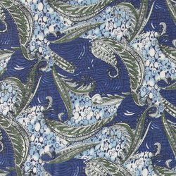 Chiffon blue paisley print light crepe