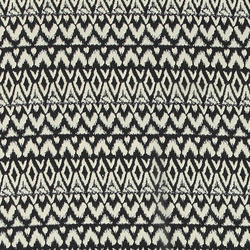 Chiffon black w white graphical pattern