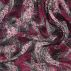 Chiffon purple paisley print light crepe
