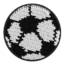 Patch footbal sequins 63x63mm 1pc