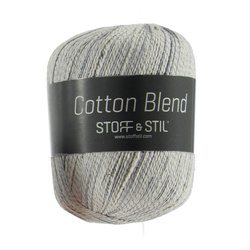 Knitting yarn cotton blend nature/aqua