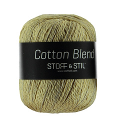 Knitting yarn cotton blend yellow/sand
