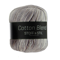 Knitting yarn cotton blend sand/grey