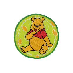Patch WINNIE THE POOH 60mm green/yel 1pc