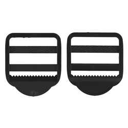 Buckle regulation 38mm black 2 pcs