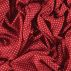 Woven satin red with small white stars