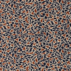 Woven viscose navy with abstract print