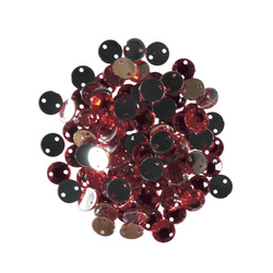 Rhinestone 8mm red 80-100 pcs