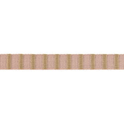 Ribbon woven 15mm pink/sand 3m
