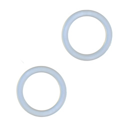 Schnullerkette O-Ring 30mm Transp. 2Stk