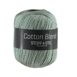 Knitting yarn cotton blend aqua/petrol