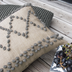 Cushion with french knots