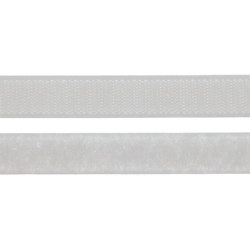 Hook and Loop tape 20mm white 50cm