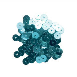 Sequins 6 mm turquoise 10g
