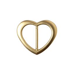Buckle 30mm heart dull gold 1 pc