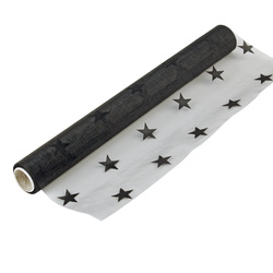Runner organza black star 35cmx5m