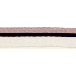 1x1 rib 3,5x100cm rose lurex/white/black