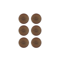 Shank button 15mm dark caramel 6 pcs