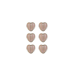 Shank button 11mm rose 6pcs