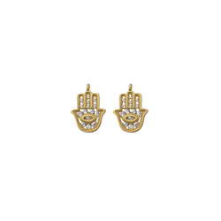 Pendant hand 14mm matt gold 2pcs