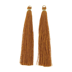 Pendant tassels 10cm curry 2pcs