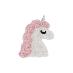 Patch unicorn 70x53mm lurex 1pc