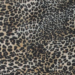 Soft tulle with animal print