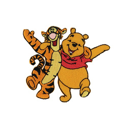 Patch WINNIE THE POOH/TIGGER orange 1pc