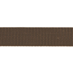Webbing ribbon nylon 25mm brown 5m