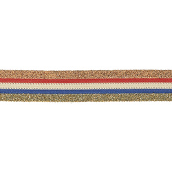 Ribbon knit 25mm blue/white/red 2,5m