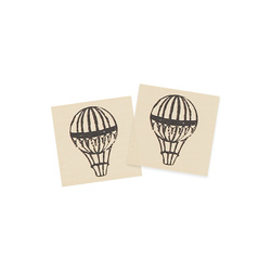 Patch air ballon 25x25mm nature 2pcs