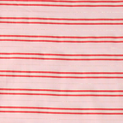 Woven cotton light red w gold stripe