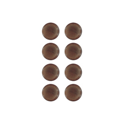 Shank button 12mm dark caramel 8 pcs