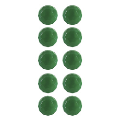 Shank button 12mm green 10 pcs