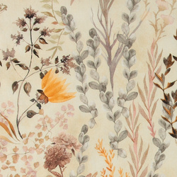 Percale sand with golden flowers