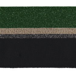 1x1 rib fold 7x100cm green/black lurex