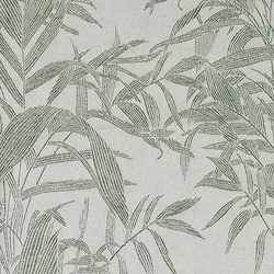 Jacquard lt. grey with green leaves