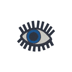 Patch eye 50x40mm black/blue/white 1pcs