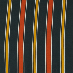 Woven viscose navy with stripes