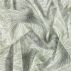 Voile white with green big leaves