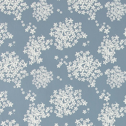 Non-woven oilcloth lt blue w elderflower