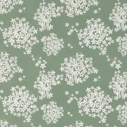 Non-woven oilcloth green w elderflower