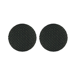 Shank button fabric 30mm emeraldgr. 2pcs