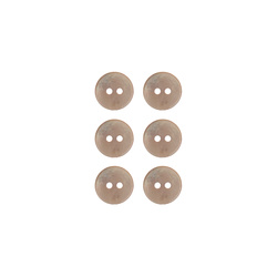 Button 2-holes pearl 11mm powder 6pcs