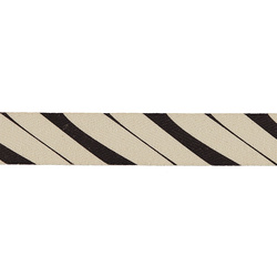 Ribbon printed line 25mm nature/black 3m