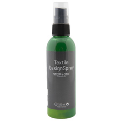 Tekstilmaling Design Spray grøn 100ml