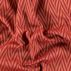 Jacquard, rote Farben, Fischgrätmuster