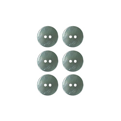 Button 2-holes pearl 15mm green 6pcs
