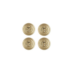 Shank button metal ancor 15mm gold 4pcs