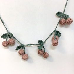Crochet cherries